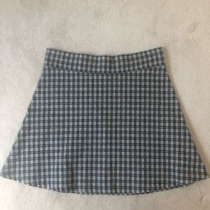 Brandy Melville blue plaid skirt